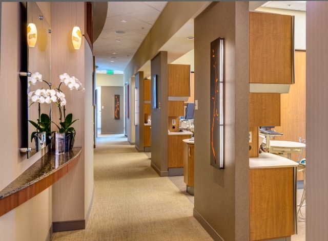 A hallway in our Irvine dental office