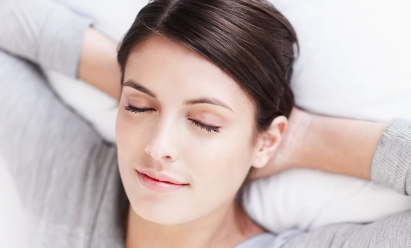 Woman relaxing after sedation dentistry