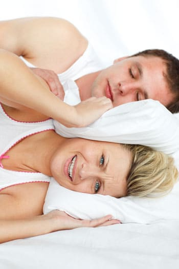 snoring husband keeping wife awake