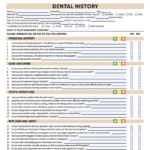 Dental history new patient form for Rice Dentistry