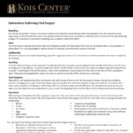 Kois Center information on caring for your mouth after oral surgery