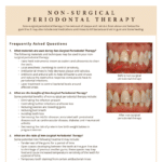 FAQ's for Non-Surgical periodontal therapy