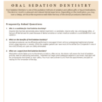 questions on Oral Sedation Dentistry
