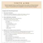 Questions and answers about a toothache