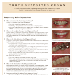 Tooth supported crown information