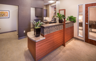 Interior entry way in the Irvine Cosmetic dental office of Dr. Rice
