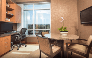 Interior consultation room in the Irvine Cosmetic dental office of Dr. Rice