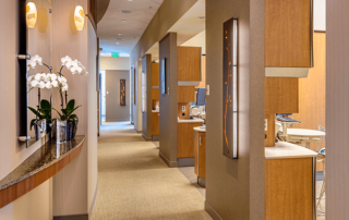 Interior hallway in the Irvine Cosmetic dental office of Dr. Rice