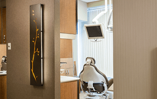Treatment room in the Irvine Cosmetic dental office of Dr. Rice