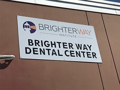Brighter Way Institute sign