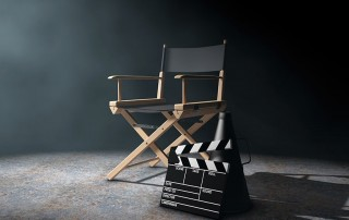 Movie chair with a cackler resting on the floor. Is your smile ready for Hollywood?